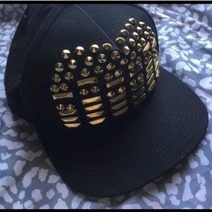 Nicki Minaj studded hat black